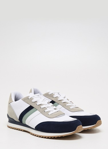 F By Fabrika Erkek Siyah Sneakers DANTE Beyaz